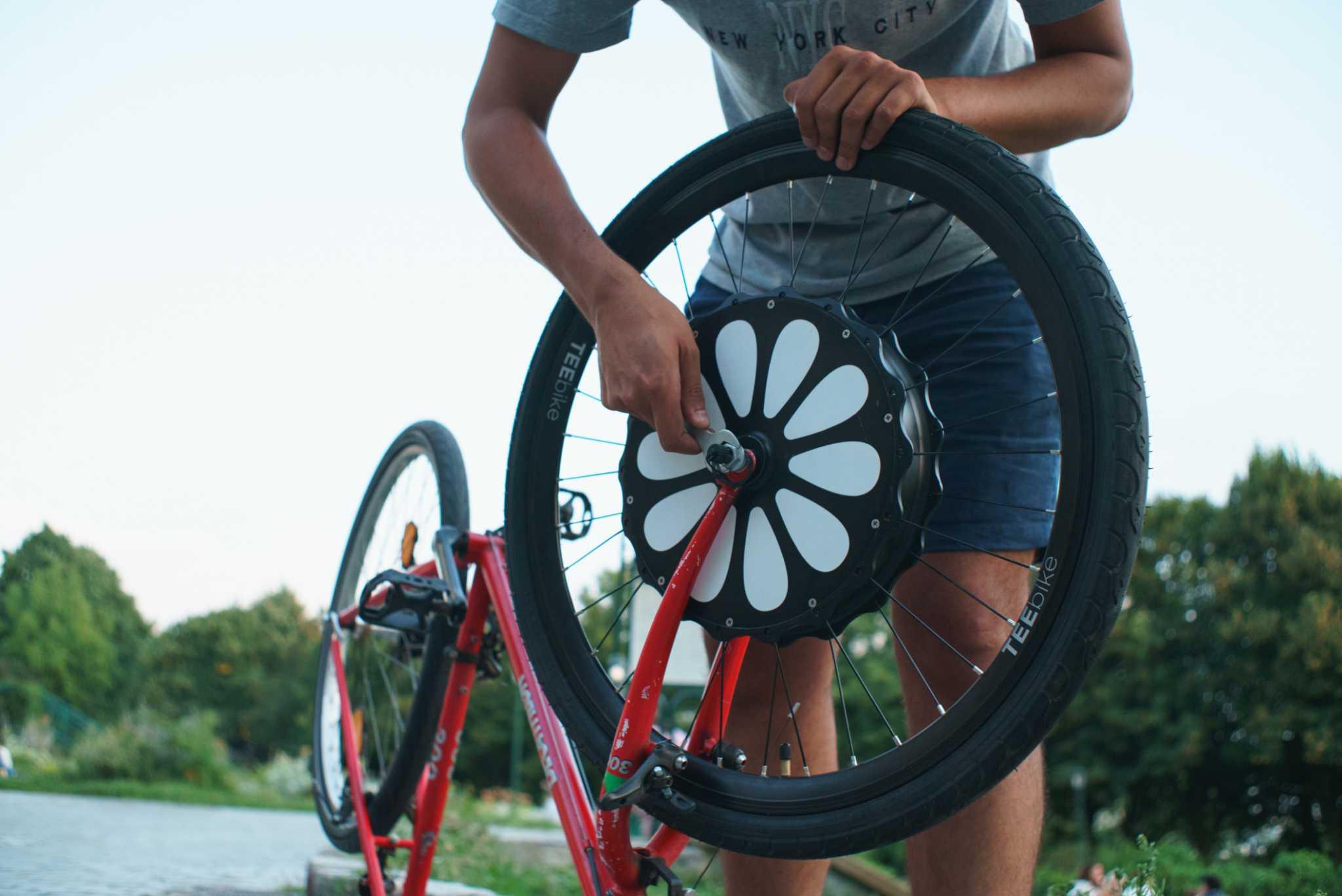 roue de vélo électrique Teebike